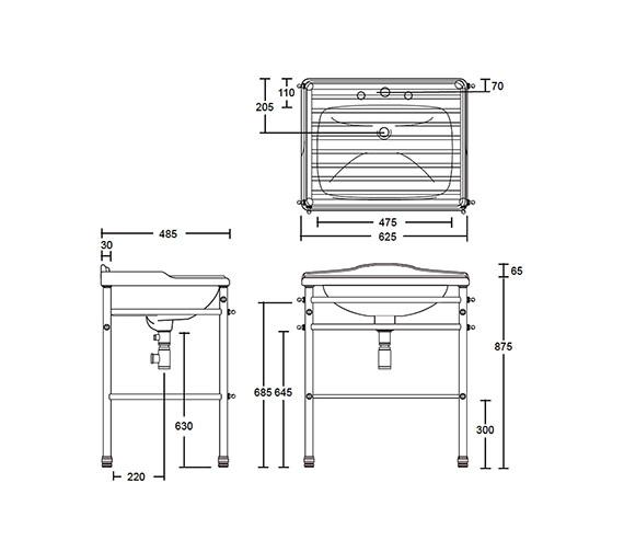 Technical drawing QS-V73481 / XS65014100