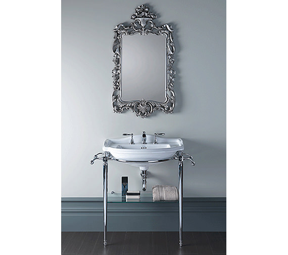 Imperial Drift 660mm Large Basin And Chrome Basin Stand