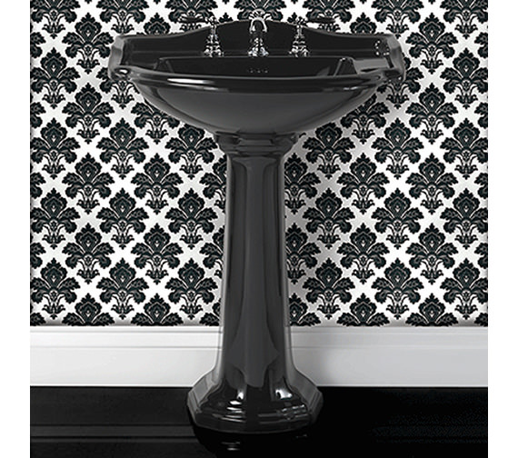 Imperial Drift 660mm Large Basin With Full Pedestal White