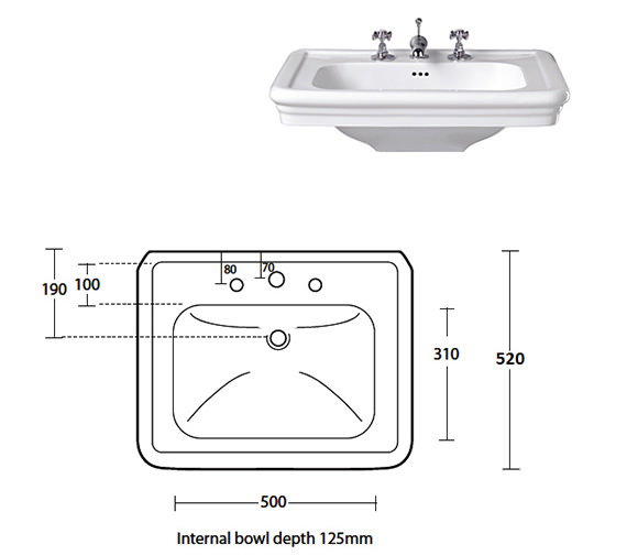 Additional image of Imperial Bathrooms  ZXBS2700100