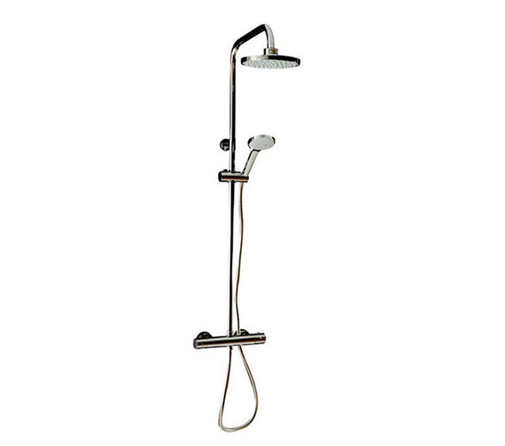 Tre Mercati Round Exposed Thermostatic Shower Valve With Shower Set Image