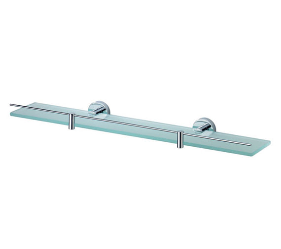 Aqualux Haceka Kosmos 600mm Glass Shelf Chrome - 1115629