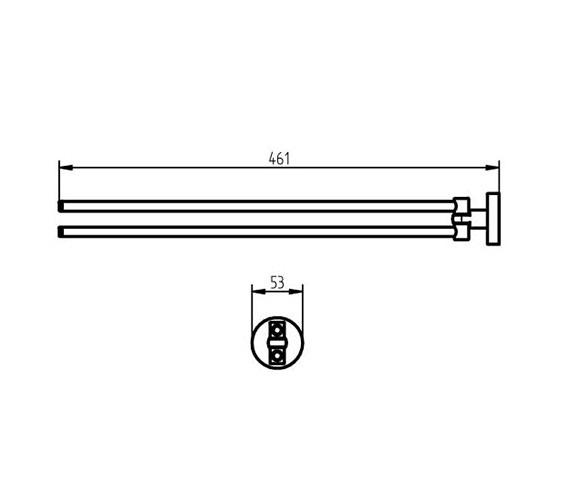 Technical drawing QS-V73619 / 1111538