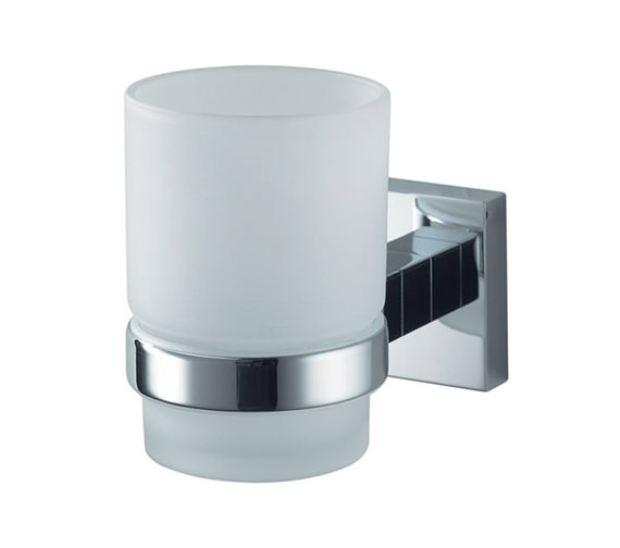Aqualux Haceka Mezzo Chrome Glass Holder Single