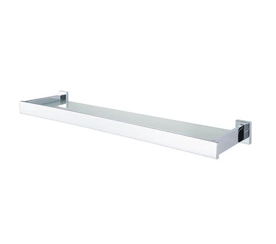 Aqualux Haceka Edge 625mm Glass Shelf Chrome - 1143807