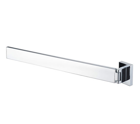 Aqualux Haceka Edge 392mm Adjustable Towel Rail Chrome - 1143809