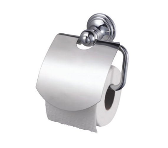 Aqualux Haceka Allure Chrome Toilet Roll Holder With Lid - 1126180