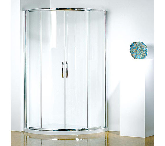 Kudos Infinite 1200 x 910mm LH Double Slider Door Center Access