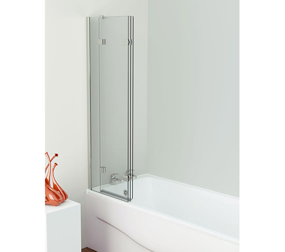 Additional image of Kudos Inspire 1250 x 1500mm Three Panel In-Fold Bath Screen
