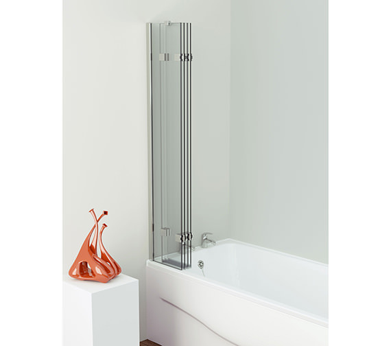 Additional image of Kudos Inspire 950 x 1500mm Compact 4 Panel In-Fold Bath Screen