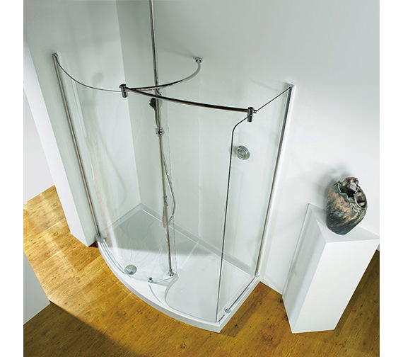 Kudos Ultimate 1700 RH Curved Panel Walk-In Corner Enclosure