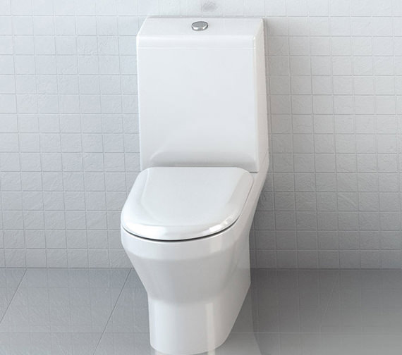 Britton Curve S30 Open Back Close Coupled WC With Soft Close Seat