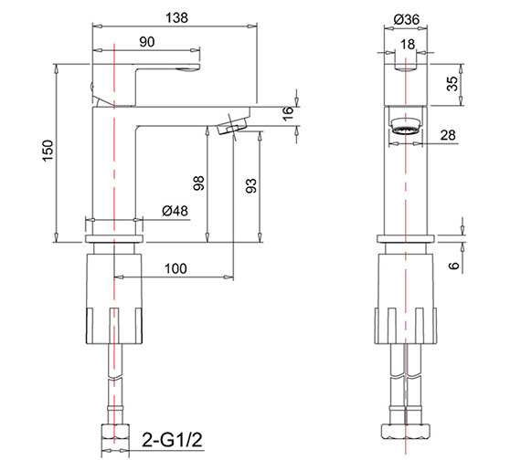 Technical drawing QS-V73874 / CTA8