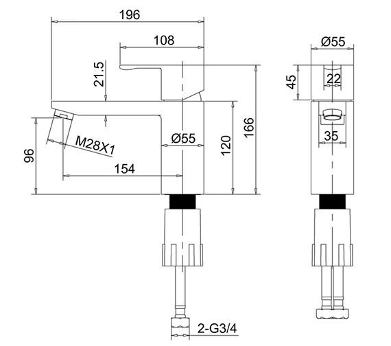 Technical drawing QS-V73876 / CTA5