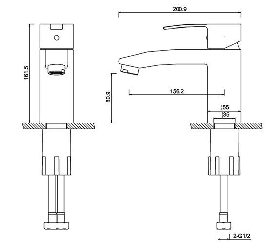 Technical drawing QS-V73887 / CTA14
