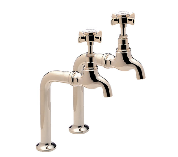 Tre Mercati Imperial Gold Pair of Bib Taps And Stand Complete