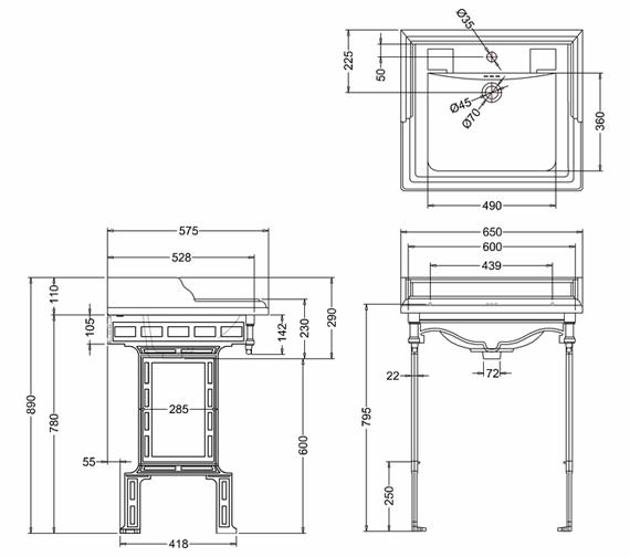 Technical drawing QS-V74008 / B15 1TH