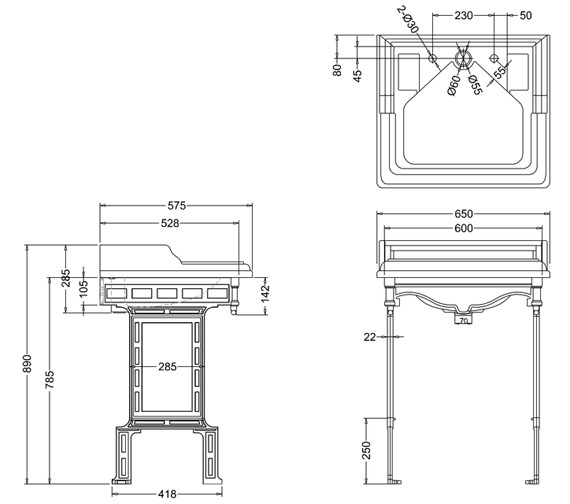 Technical drawing QS-V74023 / B14