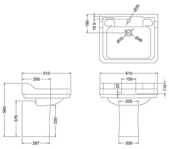 Technical drawing QS-V74051 / B5 1TH