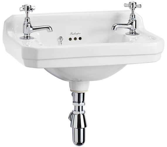 Burlington Edwardian Wall Mounted 510mm Cloakroom Basin - B8