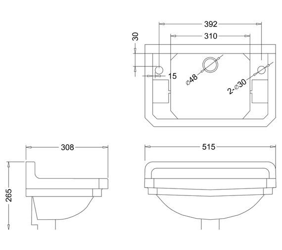 Technical drawing QS-V74086 / B8