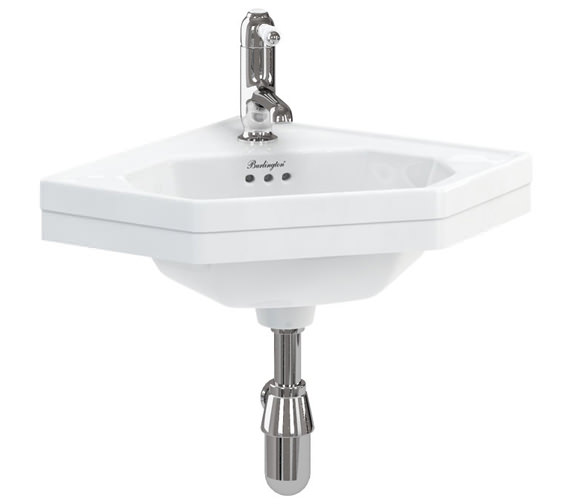 Burlington Wall Mounted Corner Cloakroom Basin - B10