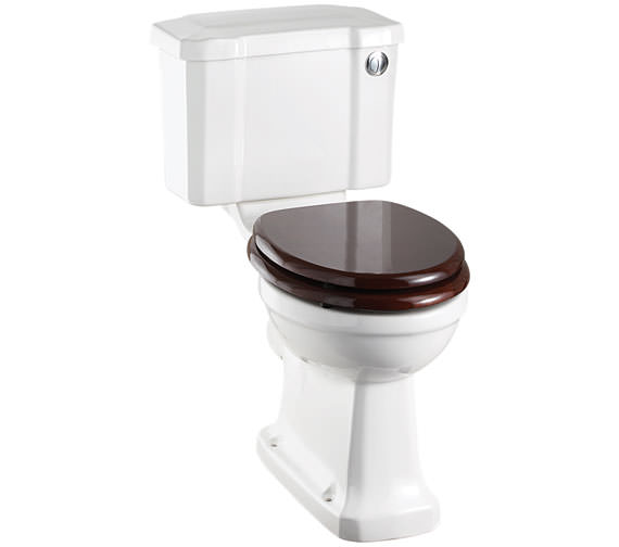 Burlington Slimline Closed Coupled WC With Front Button Cistern 730mm