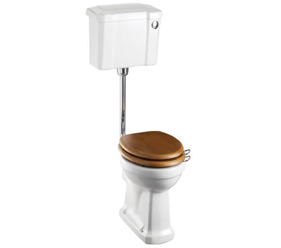 Burlington Slimline Low Level WC With Front Button Cistern - P2 - C4