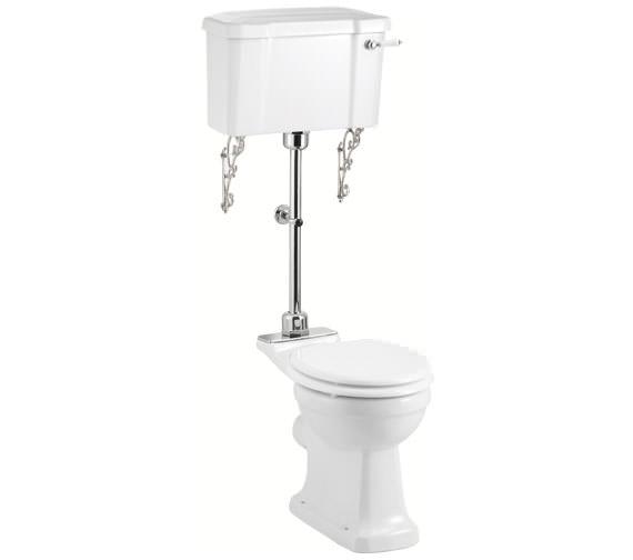 Burlington Medium Level WC With White Ceramic Lever