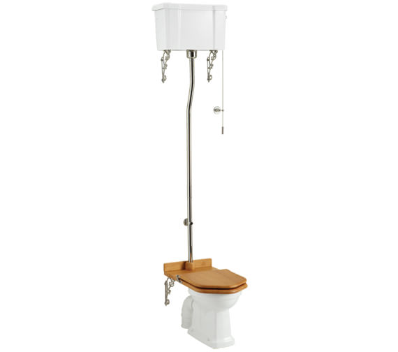 Burlington High Level WC With Ceramic Cistern Lever - P2 - C5 - T30 CHR