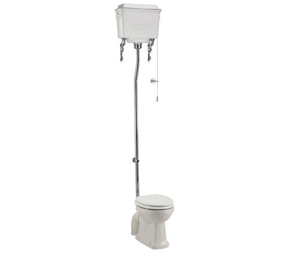 Burlington High Level WC With White Aluminium Cistern - P2 - T59 WHI