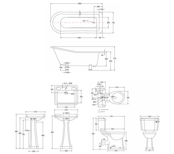 Technical drawing QS-V74130 / B3 1TH P9