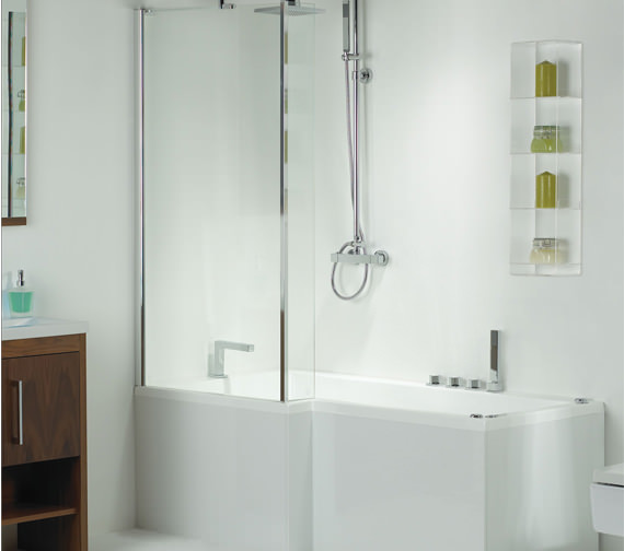 Phoenix Pensato LH Airpool Shower Bath With White Panel 1700mm System 2