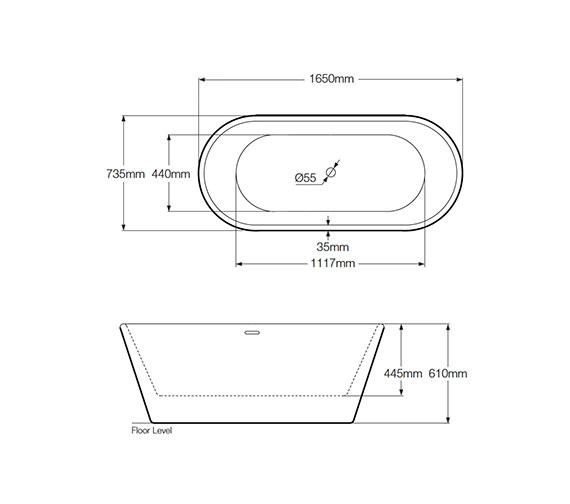 Technical drawing QS-V75364 / RMBB1650735