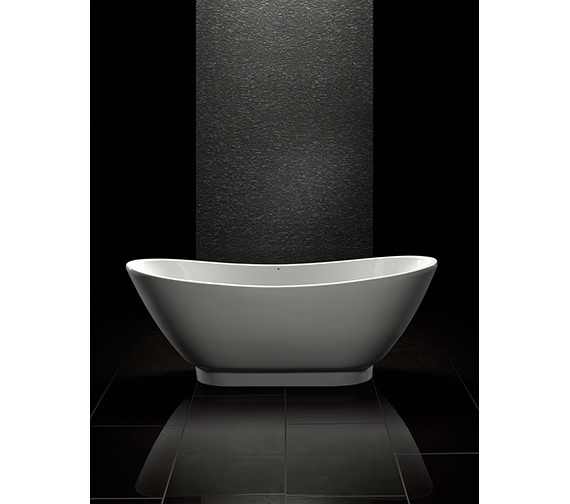 Royce Morgan Black Quartz Double Ended Freestanding Bath 1760 x 680mm