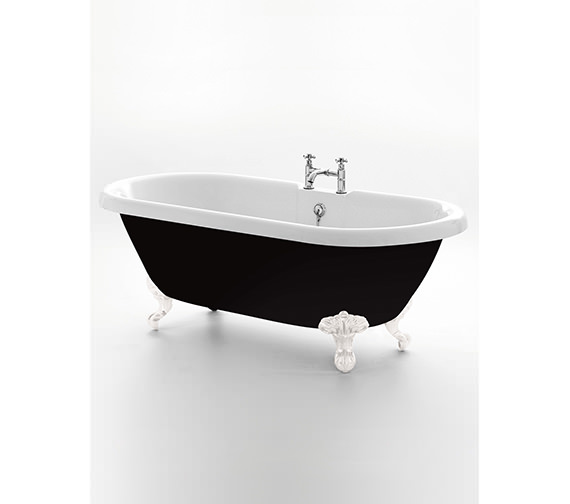 Royce Morgan Kensington Black Double Ended Bath 1755 x 785mm
