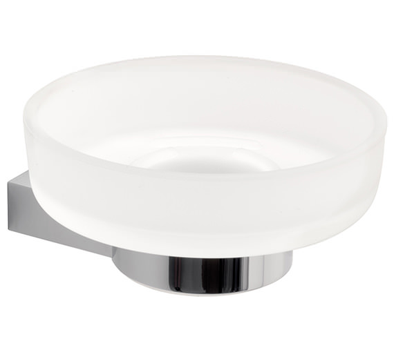 Vado Infinity Frosted Glass Soap Dish And Holder - INF-182-C-P