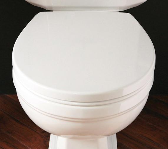 Silverdale Acrylic White Soft Close Luxury WC Seat - BCSEACHHWHISC