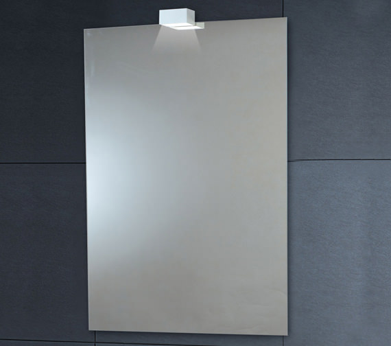 Phoenix 600 x 900mm Down Lighter Mirror With Demister Pad