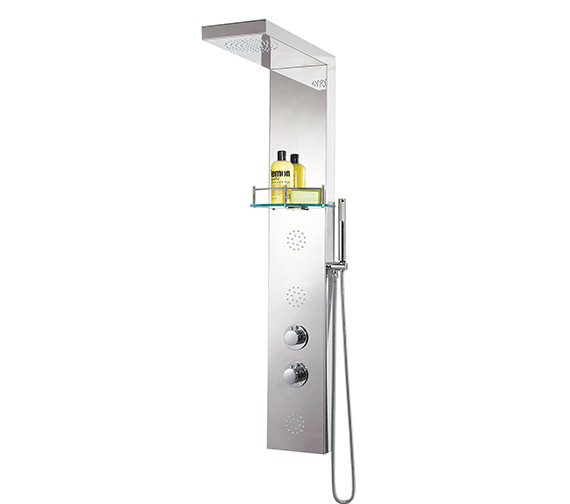 Phoenix Round Stainless Steel Thermostatic Shower Column - SC003