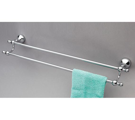 Phoenix Traditional Double Towel Rail 635 x 75mm