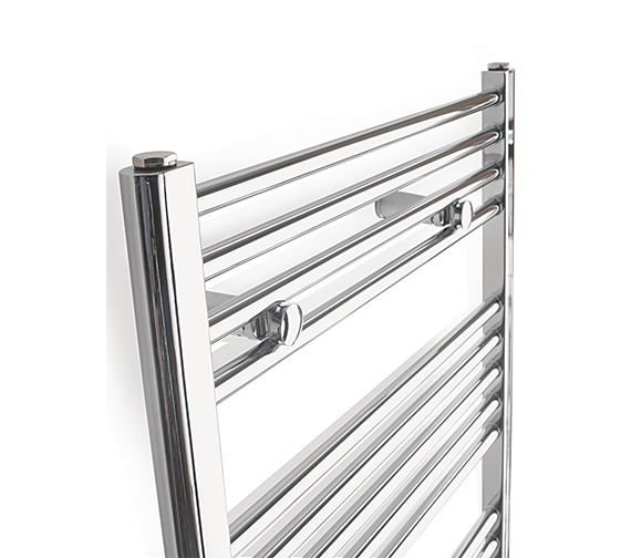 Alternate image of Tivolis Straight Towel Warmer In Chrome Finish - 700 x 800mm