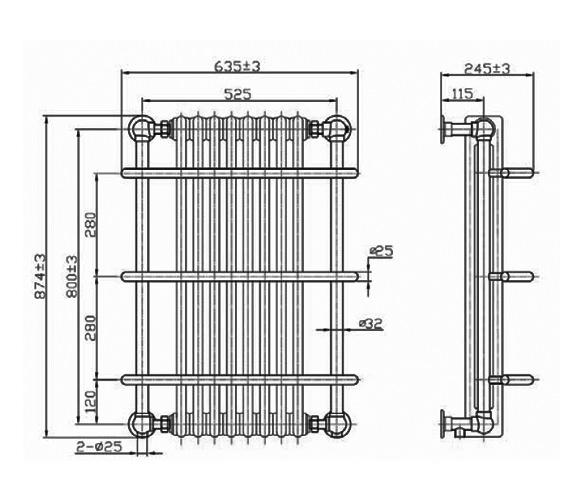 Technical drawing QS-V75908 / RA110