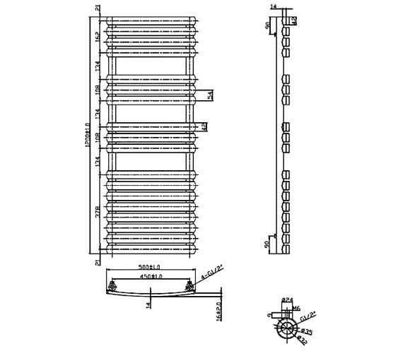 Technical drawing QS-V75918 / RA161