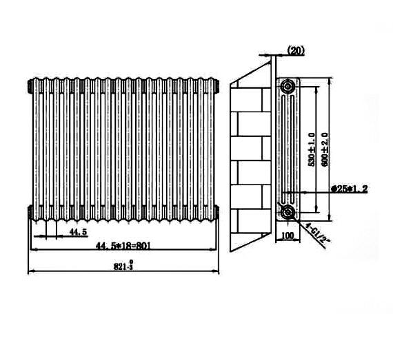 Technical drawing QS-V75920 / RA131