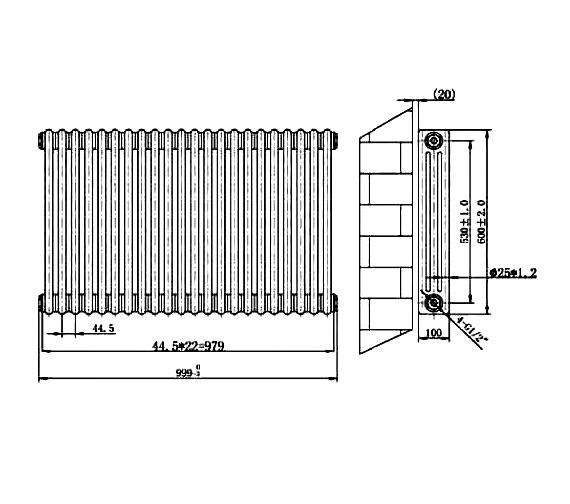 Technical drawing QS-V75921 / RA132