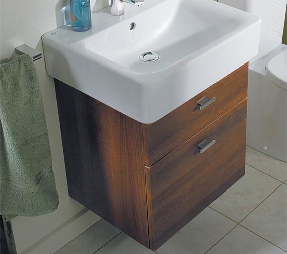 ideal standard concept cube 550mm wall hung 2 drawer basin. Black Bedroom Furniture Sets. Home Design Ideas