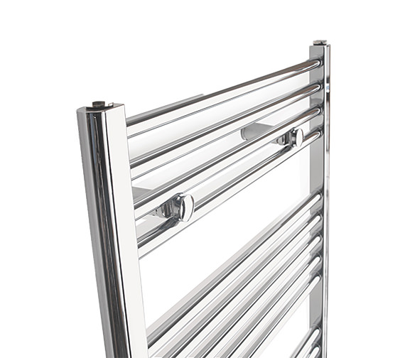 Alternate image of Tivolis Straight Towel Warmer In Chrome Finish - 400 x 1000mm
