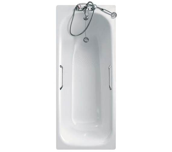 Armitage Shanks Nisa SE Steel Bath With Grip And Anti-Slip - 1700 x 700mm - 2 Tap Hole