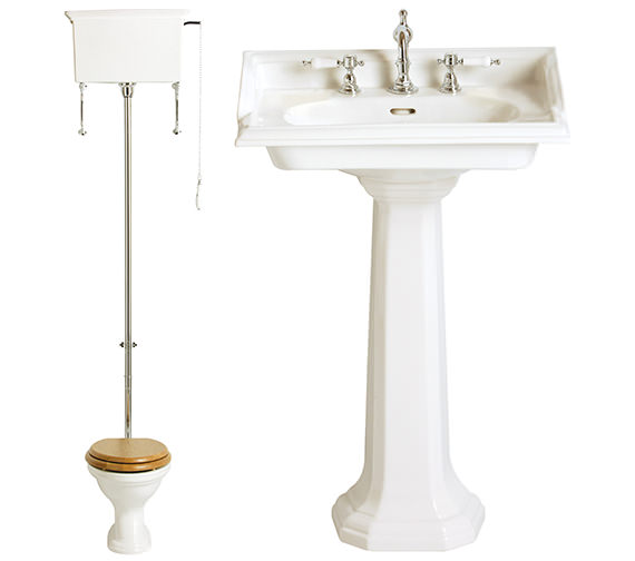 Heritage Dorchester Traditional Cloakroom Suite - 1
